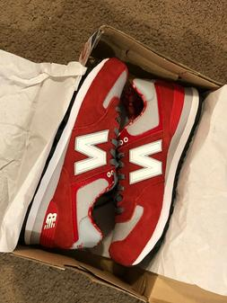 New Balance 574 Red Suede Paisley Pack Sneakers ML574LCM Men