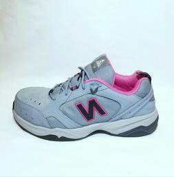 New Balance 627 Industrial Steel Toe Work Shoes Grey / Pink