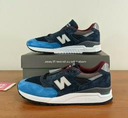 """New Balance 998 """"Navy"""" Mens Sneakers  Made In USA Size 7"""