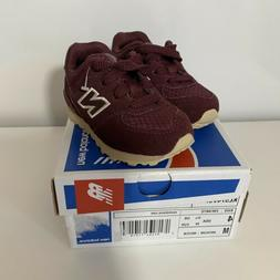 Baby New Balance Sneakers Burgundy Beige 4c NEW