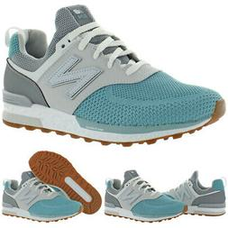New Balance Girls 574 Faux Leather Trainers Fashion Sneakers