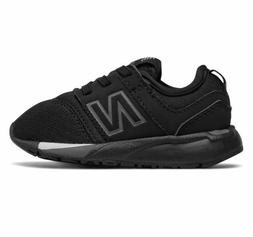 New Balance Infant 247 Classic Sneaker Black/White Size 10