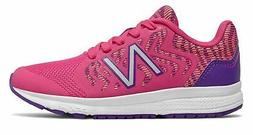 New Balance Kid's 519v2 Big Kids Female Shoes Pink with Purp