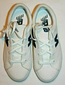 New Balance Kids' White/Navy Canvas Sneakers Shoes KLCRTWNY