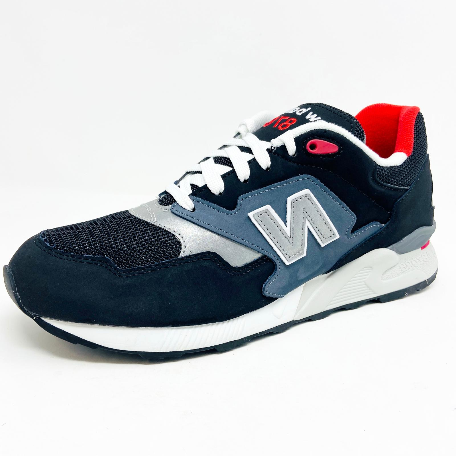 878 90s classics leather black gray red