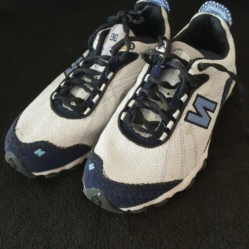 achieve white blue sneakers size 6 5