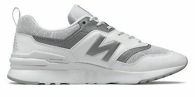 New Balance Men's Shoes White with Grey