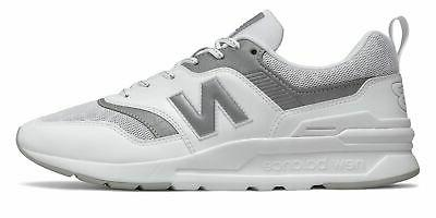 men s 997h shoes white with grey