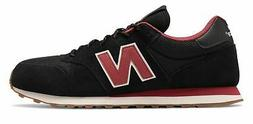 New Balance Men's 500 Classic Shoes Black with Red