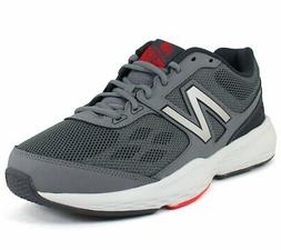 New Balance Men's MX517 Grey Red Leather And Mesh fashion-sn