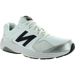 mens 847 v3 faux leather mesh inset