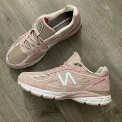 New Balance Men's 990v4 Sneaker Made in USA Faded Rose/Pink
