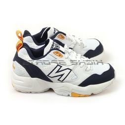 New Balance WX708WP D White & Navy & Yellow Wide Chunky Dadd