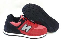 Youth Kids Boys New Balance 574 BEP Red Black Sneakers Shoes
